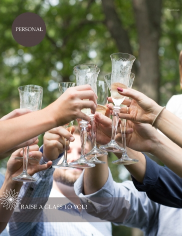 Family Toasting Each other with Champaign Chicago Wedding and Family Photographer Memorable Jaunts