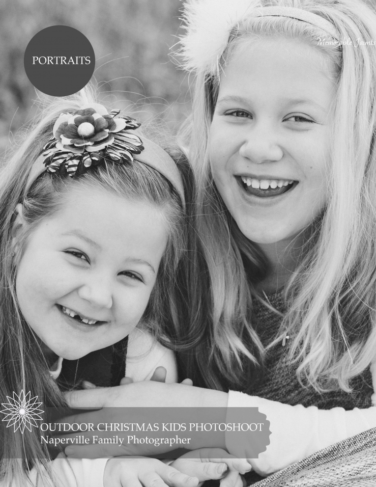 Outdoor Christmas Themed Family Photoshoot Siblings Hugging Naperville Family Photographer Memorable Jaunts